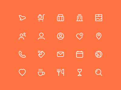 Tedo Icons design pixel visual identity pixel perfect travel icons affinity illustrator ux ui vector illustration vector