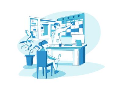 Medical platform illustration