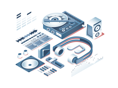 Isometric Media Illustration