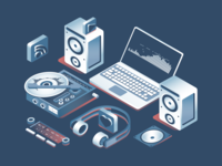 Music Production Illustration