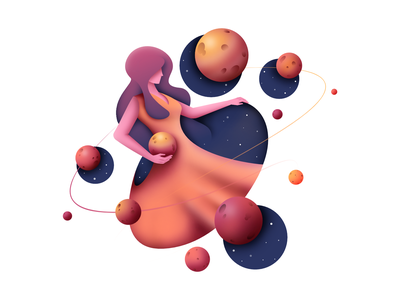 Mother of Planets pixelart pixel clean planets character design character design exploration ui airbrush bright color combinations affinity space visual identity vector illustration vector illustration vector art