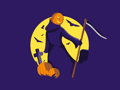 Pumpkin Scarecrow affinity scary scarecrow pumpkin halloween minimal clean design illustrator visual identity vector illustration bright color combinations vector illustration vector art