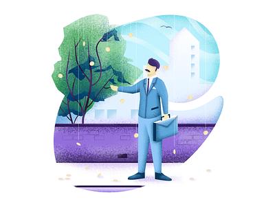 Court Buddy Rainmaking Illustration law pixelart pixel illustrator visual identity character texture affinity vector illustration bright color combinations vector illustration vector art