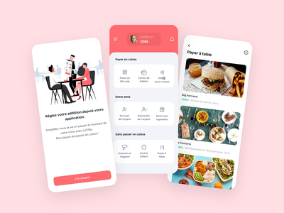 Mobile Payment App food mobile iphone interface application design ios ui ux app