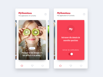 MyQuestions question answers questions design app shadow flat ui ux ios iphone