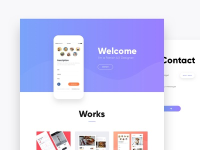Portfolio gradient website portfolio design flat ios experience user ui ux interface app