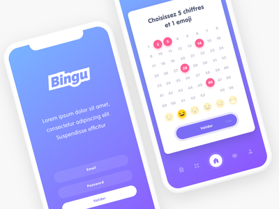 Bingu chance design mobile flat ios experience user ui ux application interface app