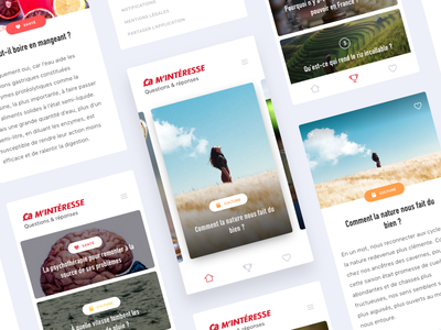 Ca m'intéresse design mobile flat ios experience user ui ux application interface app