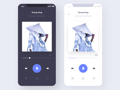 App Music pause play music app application design interface uidesign uxdesign ux ui