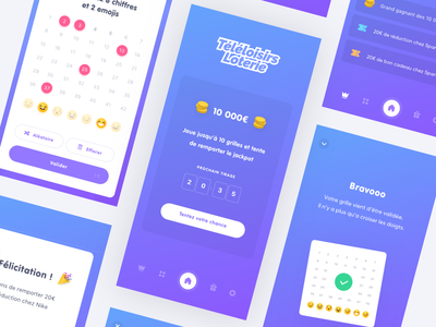 App Loto win lotery game ui ux uxdesign uidesign interface design application app