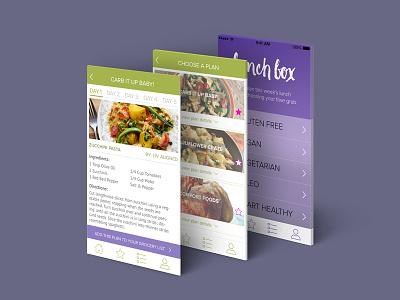Lunchbox App iphone ux ui ui design ios