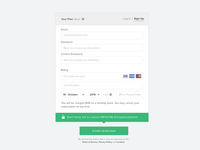 Sign up with credit card