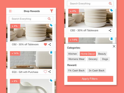 Shopping Rewards App Homepage minimal design rewards app app design ios mobile design app shopping