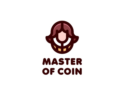 Master of Coin Logo lastspark label mark branding brand illustration logotype logo outline line man fairy tale legend middle ages business head bank money coin master
