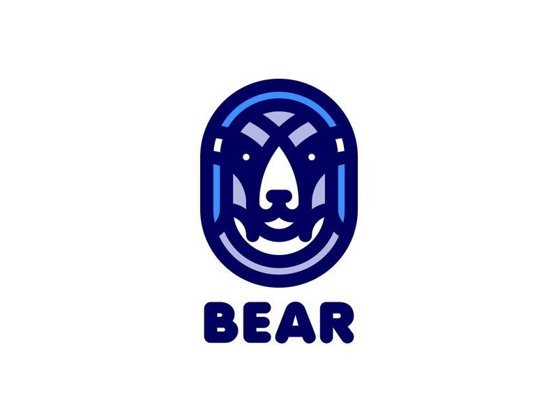 Bear Logo 198 lastspark label mark branding brand illustration logotype logo outline line war battle animal armor warrior helmet bear