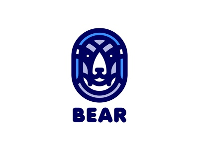 Bear Logo 198 lastspark label mark branding brand illustration logotype logo outline line war battle animal armor warrior helmet bear