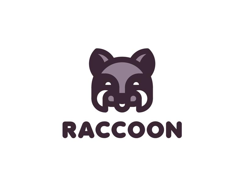 Raccoon Logo 199 lastspark label mark branding brand illustration logotype logo outline line happiness smile animals nature head animal coon racoon raccoon