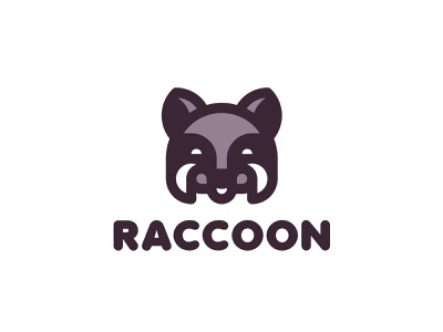 Raccoon Logo 199 lastspark label mark branding brand illustration logotype logo outline line happiness smile animals nature head animal coon racoon raccoon