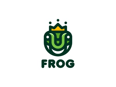 Frog Logo lastspark label mark branding brand illustration logotype logo outline line magic legend myth fairy tale king crown princess prince frog