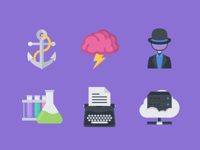 The Flat SEO & Business Icons 100 black had cloud server copywriter typewriter lab brainstorm anchor icons icon flat seo