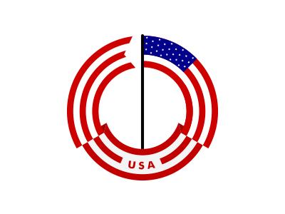 usa flag by last spark dribbble rh dribbble com flag logo quiz a to z flag logo design