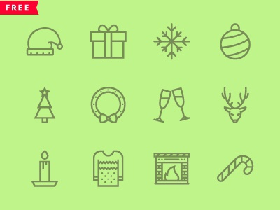 The Christmas Icons 100 Free graphicriver creativemarket free free icons colored icons outline outline icons icon icons christmas xmas