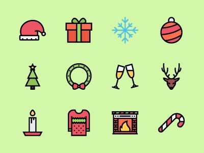 The Christmas Icons 100 iconfinder xmas christmas icons icon outline icons outline colored icons creativemarket graphicriver