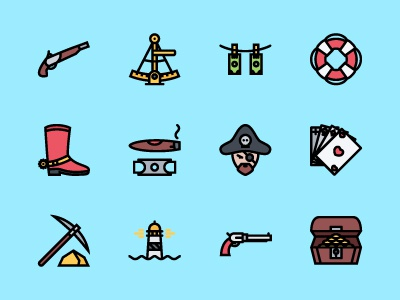 The Bad Boys Icons 100 sailing pirates cowboys mafia icons icon outline colored icons outline icons creativemarket graphicriver iconfinder