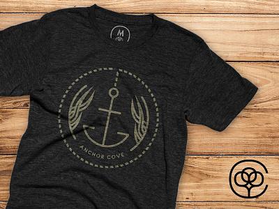 Anchor Cove buy outline badge t-shirt anchor print cottonbureau