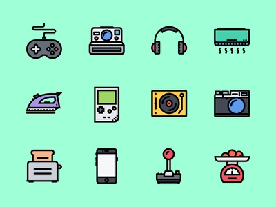 The Electronics & Appliances Icons 100 gadget filled outline iconfinder appliances electronics icons icon outline icons outline colored icons creativemarket graphicriver