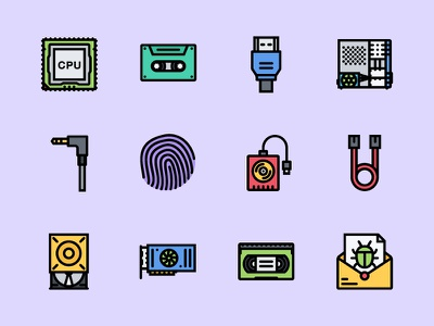 The Computer   Data Icons 100 port information computer data iconfinder graphicriver creativemarket outline icons colored icons icons