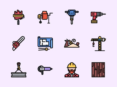 The Building Icons 100 iconfinder graphicriver creativemarket outline icon icons repairs building