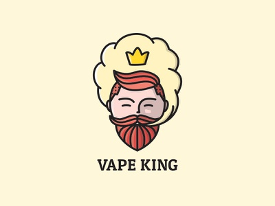 Vape King clean sell logos logo tobacco smoking smoke vape shop crown king vape