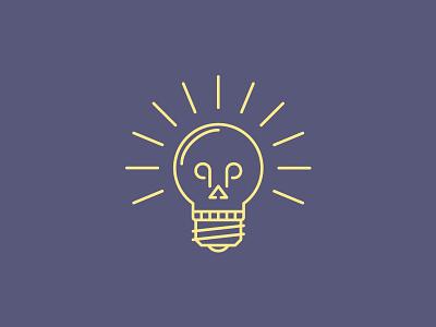 Dead Idea clean logo light brainstorm lamp dead skull idea creative