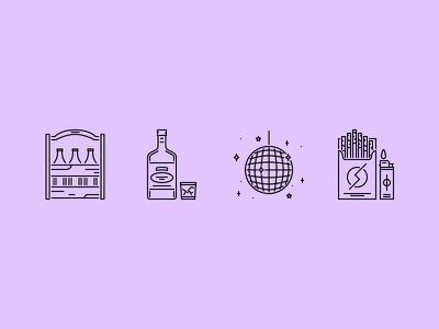 The Bar Outline Icons 25 alcohol party club bar icon icons set outline graphicriver iconfinder creativemarket