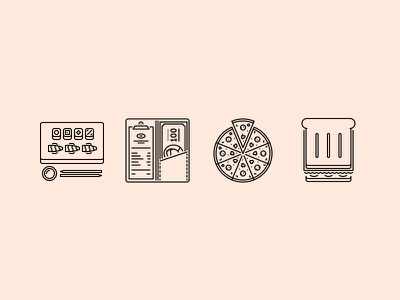 The Restaurant Outline Icons 25 creativemarket iconfinder graphicriver outline set icons icon cook restaurant food