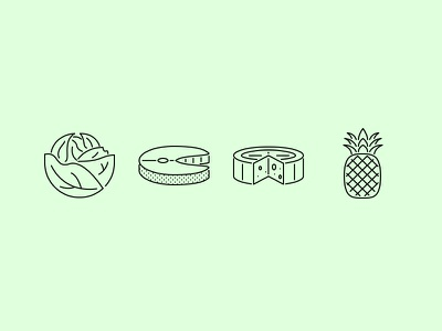 The Food Outline Icons 25 food supermarket cook icon icons set outline graphicriver iconfinder creativemarket