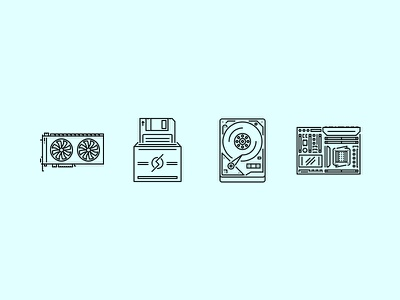The Computer Outline Icons 25 icons set outline graphicriver iconfinder creativemarket data technology computer