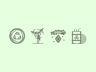 The Nature Outline Icons 25 icons set outline graphicriver iconfinder creativemarket green eco nature ecology