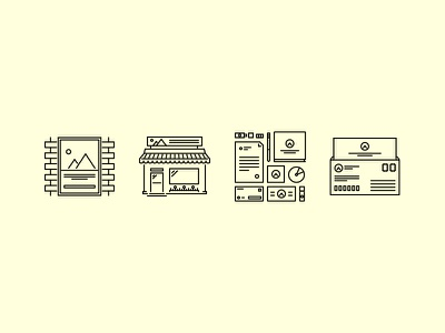 The Branding Outline Icons 25 creativemarket iconfinder graphicriver outline set icons icon identity branding print brand