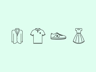 The Clothes Outline Icons 25 creativemarket iconfinder graphicriver outline set icons icon fashion style shoes clothes