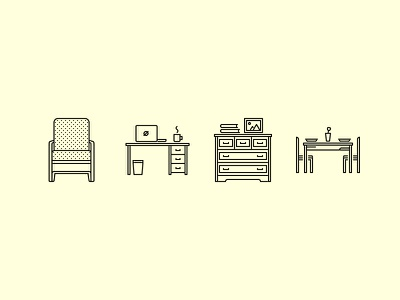 The Furniture Outline Icons 25 creativemarket iconfinder graphicriver outline set icons icon decoration home furniture house