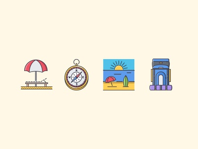 The Travel Filled Outline Icons 25 trave holidays camping holiday sun filled outline iconfinder outline set icons icon