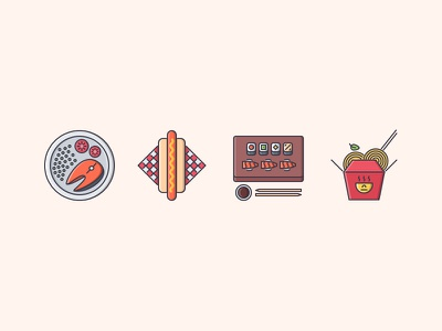 The Restaurant Filled Outline Icons 25 noodles hot dog sushi icon icons set outline iconfinder filled outline food restaurant cook