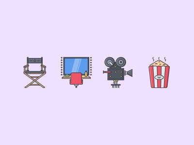 The Cinema Filled Outline Icons 25 cinema movie camera dressing room popcorn chair icon icons set outline iconfinder filled outline