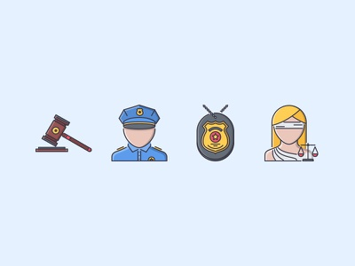 The Law Filled Outline Icons 25 themis law judge hammer court badge policeman icons set outline iconfinder filled outline
