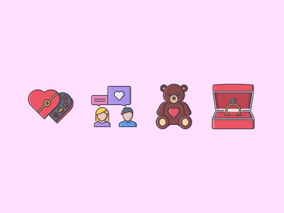 The Love Filled Outline Icons 25 love ring wedding teddy bear talk candy chocolate icons set outline iconfinder filled outline