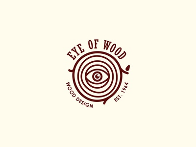 Eye Of Wood clean logo nature woodworking woodworker forest tree furniture design wood eye logoground