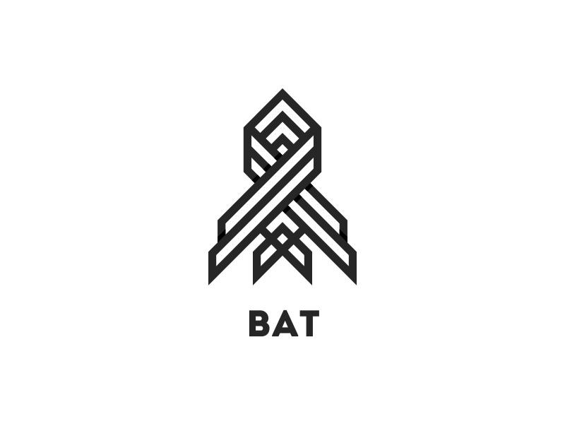 Bat Logo - Day 29 clean logos logo animal vampire outline line strong wings sleep night bat