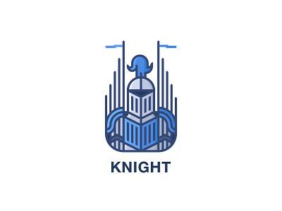 Knight Logo - Day 52 logo one day one logo last spark army honor outline line leader flag war kingdom knight